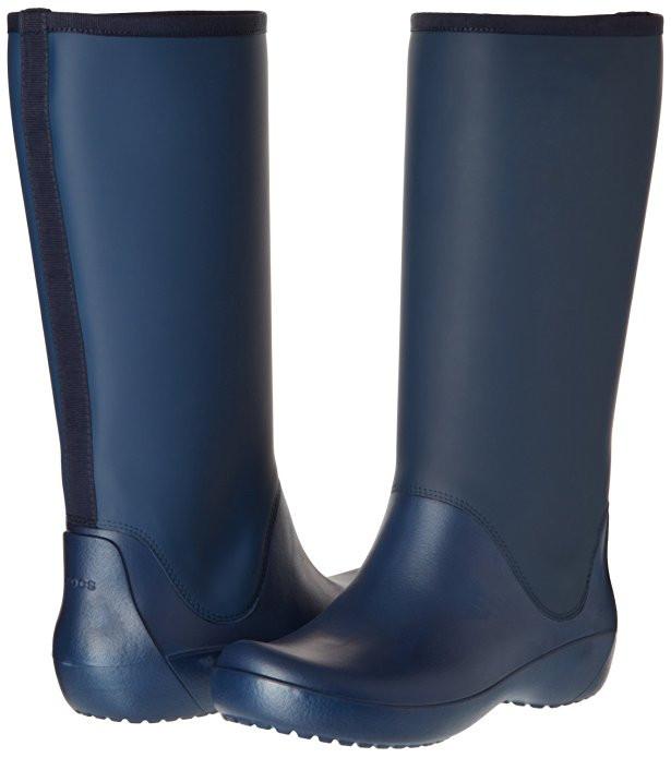 534da3218be4 Женские резиновые сапоги Крокс Crocs Women's Rain Floe Tall Boot 37- 38