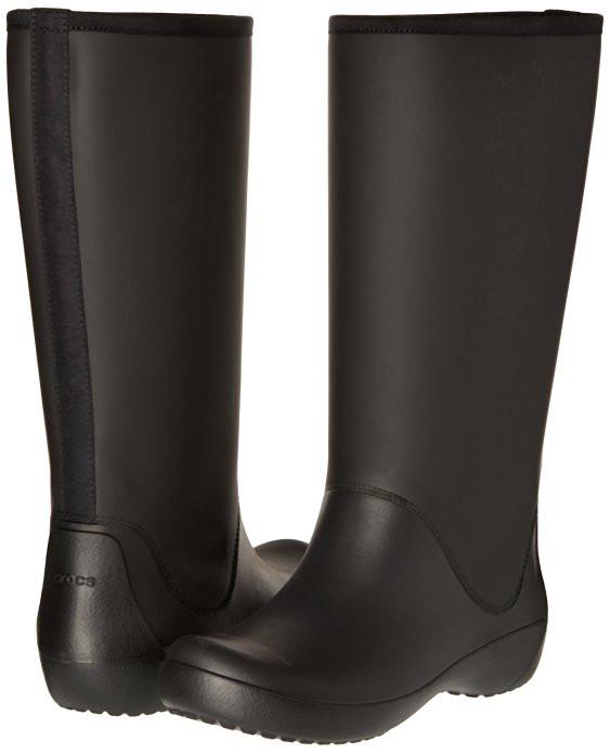 Женские резиновые сапоги Крокс Crocs Women's Rain Floe Tall Boot