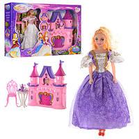Замок SG-2962 принцессы, звук, свет, мебель, кукла 27см, на бат-ке(табл)в кор-ке, 50-34-8,5см