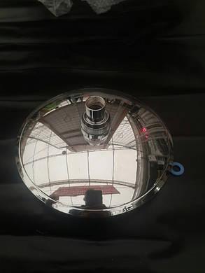 Лейка круглая, потолочная для душа диаметром  200 мм. ( L-200H ) с поворотным шарниром, пластиковая., фото 2