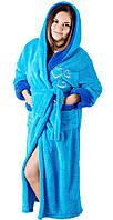 Теплый женский махровый халат