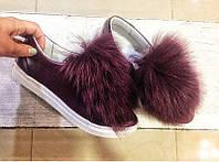 Слипоны женские ALLURE кожаные с опушкой AL0017