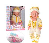 Кукла пупс Baby Born интерактивный, посуда, горшок, подгузник, соска