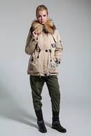 Парка женская зимняя с меховой опушкой на капюшоне (3 цвета)
