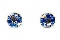 Запонки мужские Глобус,подарок учителю географии,день учителя