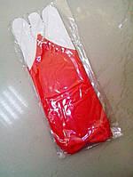 Перчатки детские нарядные с бантиком (красные)