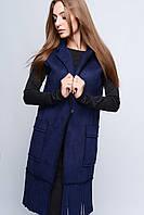 Женский модный замшевый жилет с бахромой, фото 1