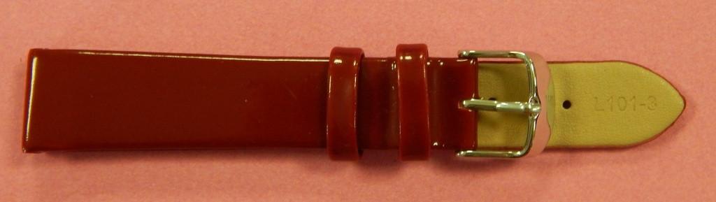 20 мм. Ремешок кожаный Verona (Италия) Красный лак