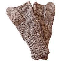 Вязаные рукавички - митенки с пальцем