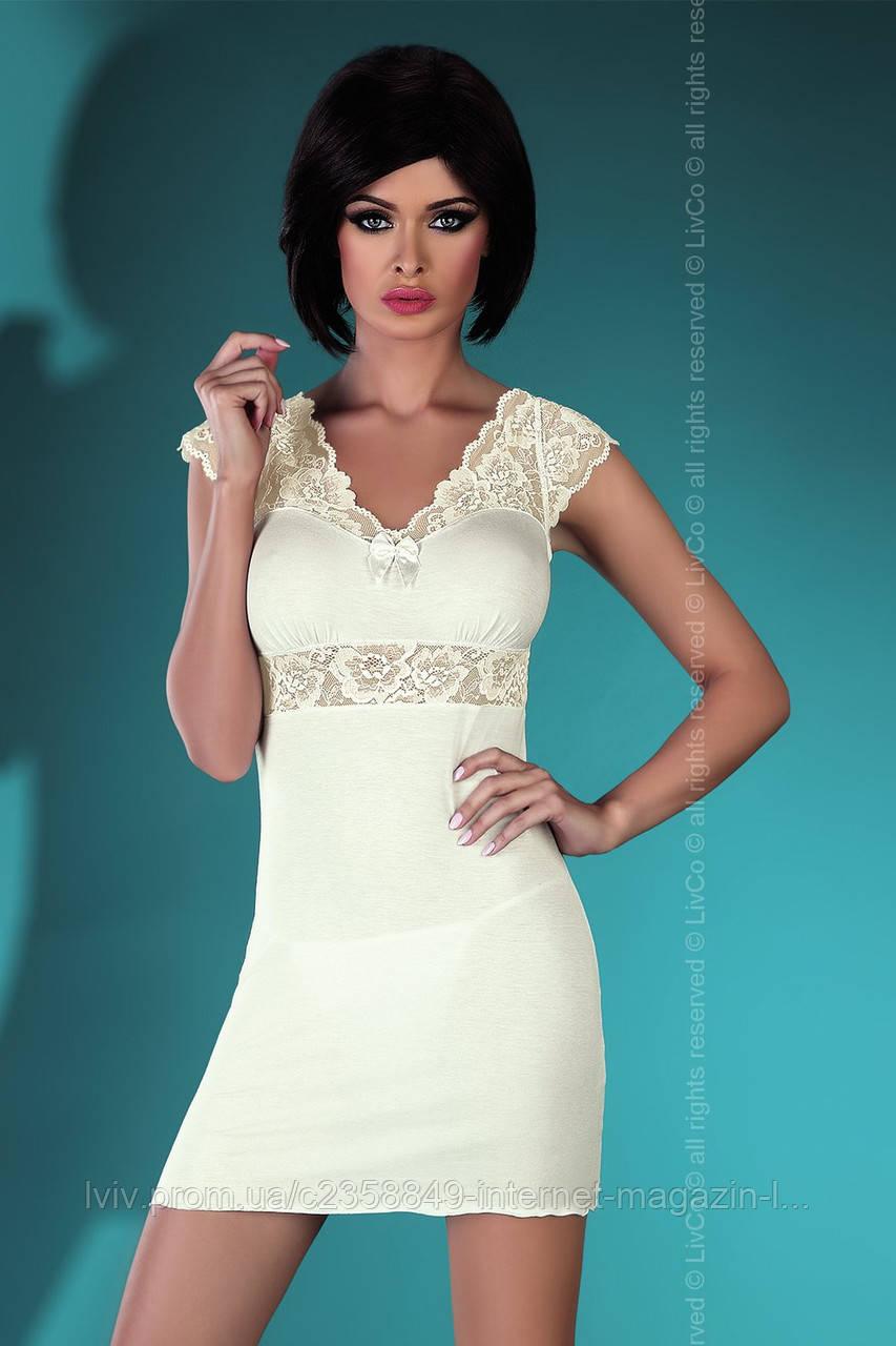 06a6d4303186aa0 Ночная женская сорочка с кружевом Accalia Light TM Livia Corsetti (Польша)  - Интернет-