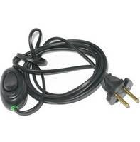 Шнур с выключателем для бра 4А 220В 2м Бочка черный