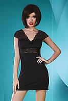 Черная женская сорочка с кружевом Accalia Black TM Livia Corsetti (Польша)