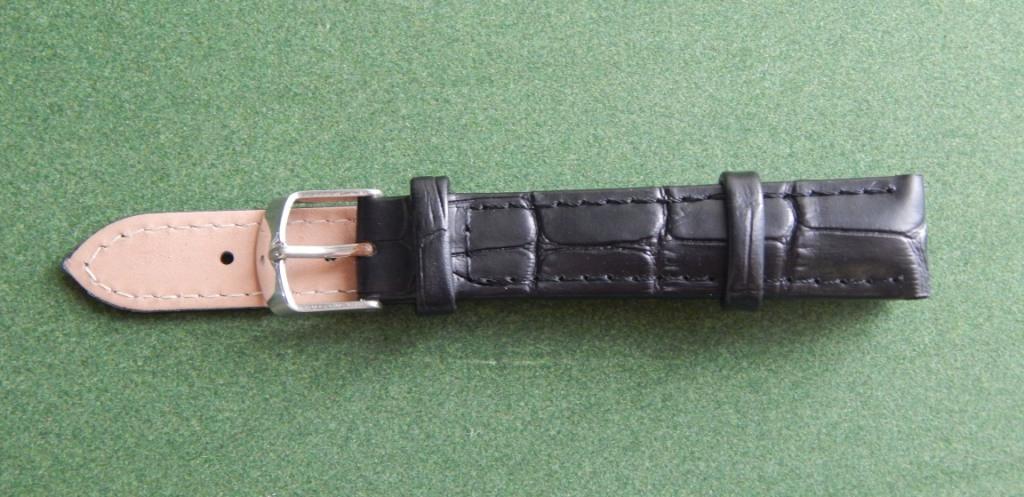 16 Ремешок кожа Torino (Италия) Черный рельеф