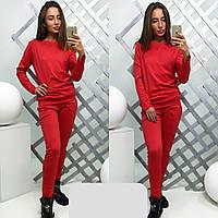 Женский спортивный костюм ткань трикотаж цвет красный