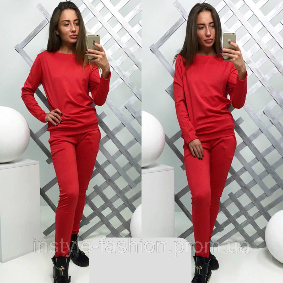 18c42578851e Женский спортивный костюм ткань трикотаж цвет красный  купить ...