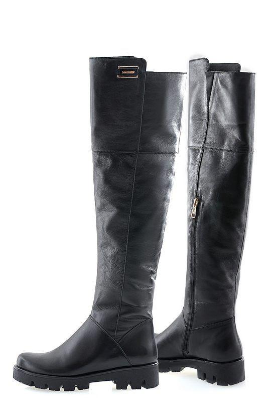 Ботфорты кожаные Oscar Fur  20158-0109 Черный