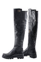 Ботфорты кожаные Oscar Fur  20158-0109 Черный, фото 1