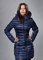 Стильная женская зимняя удлиненная куртка