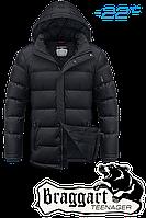 Куртка детская растущий рукав Braggart Kids - 6528C черная