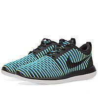 Оригинальные  кроссовки Nike W Roshe Two Flyknit Black & Photo Blue