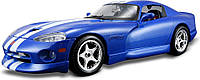 Авто-конструктор DODGE VIPER GTS COUPE 1996 синий, 1:24 Bburago (18-25023)