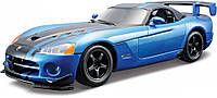 Авто-конструктор DODGE VIPER SRT10 ACR 2008 голубой металлик, 1:24 Bburago (18-25091)