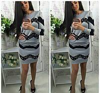 Стильный и модный костюм кофта и юбка цвет светло-серый, фото 1