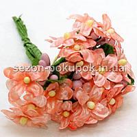 """Цветок """"Мелкоцвет незабудка"""" (цена за букет из 6 шт). Цвет - персиковый"""