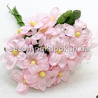 """Цветок """"Мелкоцвет незабудка"""" (цена за букет из 6 шт). Цвет - розовый"""