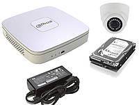 Комплект видеонаблюдения Dahua на 1,2,3,4 камеры