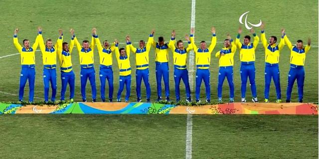 Сборная Украины по футболу - чемпион Паралимпиады