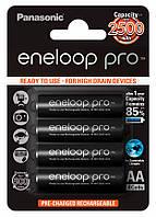 Аккумуляторы Panasonic Eneloop Pro 2600 mAh Ni-MH АА 4 шт. (комплект) (BK-3HCDE)