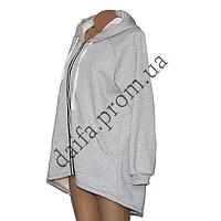 Женская трикотажная куртка (БАТАЛ) с начесом 76-1 оптом в Одессе