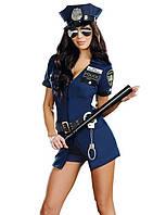 Костюм полицейской с поясом