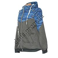 Женская трикотажная куртка (БАТАЛ) с начесом 79-1 оптом в Одессе