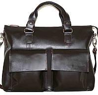 Кожаная мужская сумка Mk25 коричневая шоколад