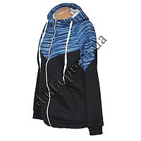 Женская трикотажная куртка (БАТАЛ) с начесом 79-4 оптом в Одессе