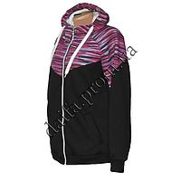 Женская трикотажная куртка (БАТАЛ) с начесом 79-5 оптом в Одессе