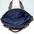 Кожаный мужской портфель Mk25 коричневый матовый, фото 4