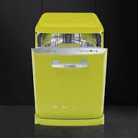 Отдельностоящая посудомоечная машина Стиль 50-х годов, цвет лайма Smeg BLV2VE-2