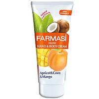Крем для рук и тела - абрикос, кокос, манго