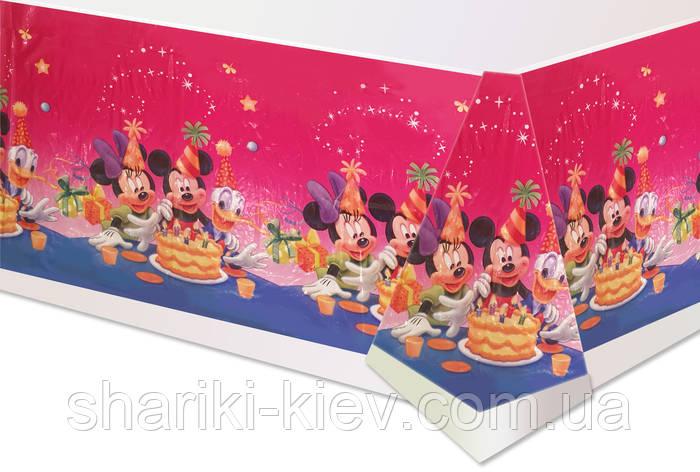 Скатерть Минни Маус и друзья на День рождения в стиле Минни Маус , фото 2