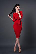 Платье мод №256-7, размеры 44 красное