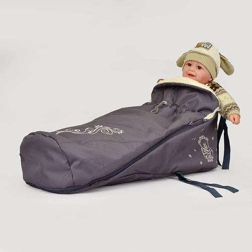 Меховой конверт в санки 0305 (в ассортименте), Baby Breeze
