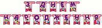 "Гирлянда ""З Днем народження""  Минни Маус  на День рождения в стиле Минни Маус"