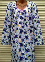 Теплая ночная рубашка из фланели 48 размер, фото 1