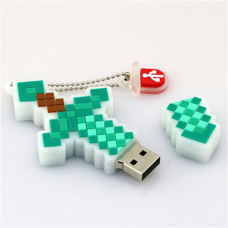 Флеш накопитель МЕЧ АЛМАЗНЫЙ  8гб  Майнкрафт Minecraft