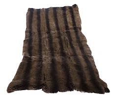 Мех кролик рекс коричнево-черный пластина