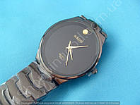 Часы Kede 3220 114322 черные мужские круглые темная сталь диаметр 35 мм