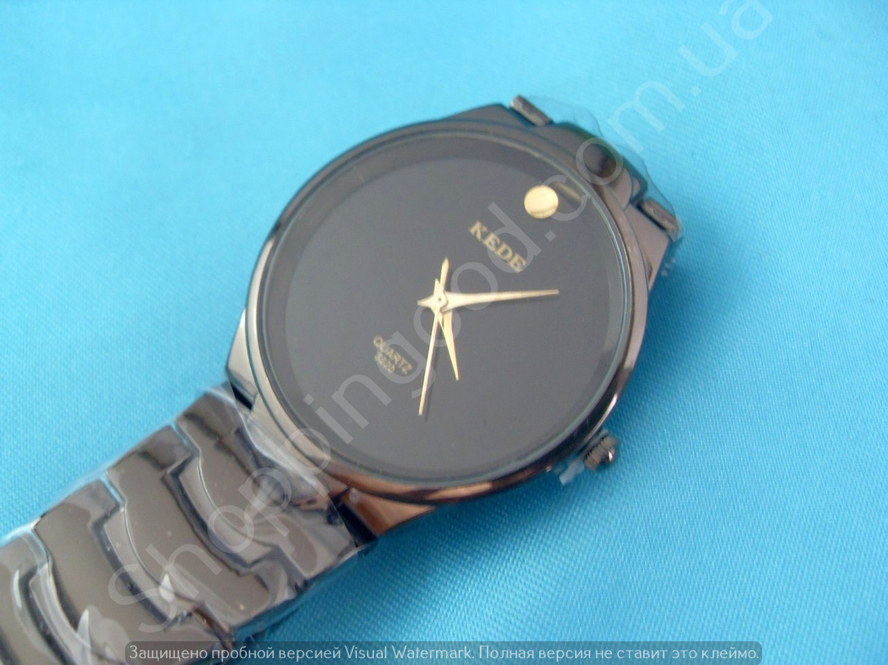 Часы Kede 3220 114322 черные мужские круглые темная сталь диаметр 35 мм - Shoppingood в Харькове